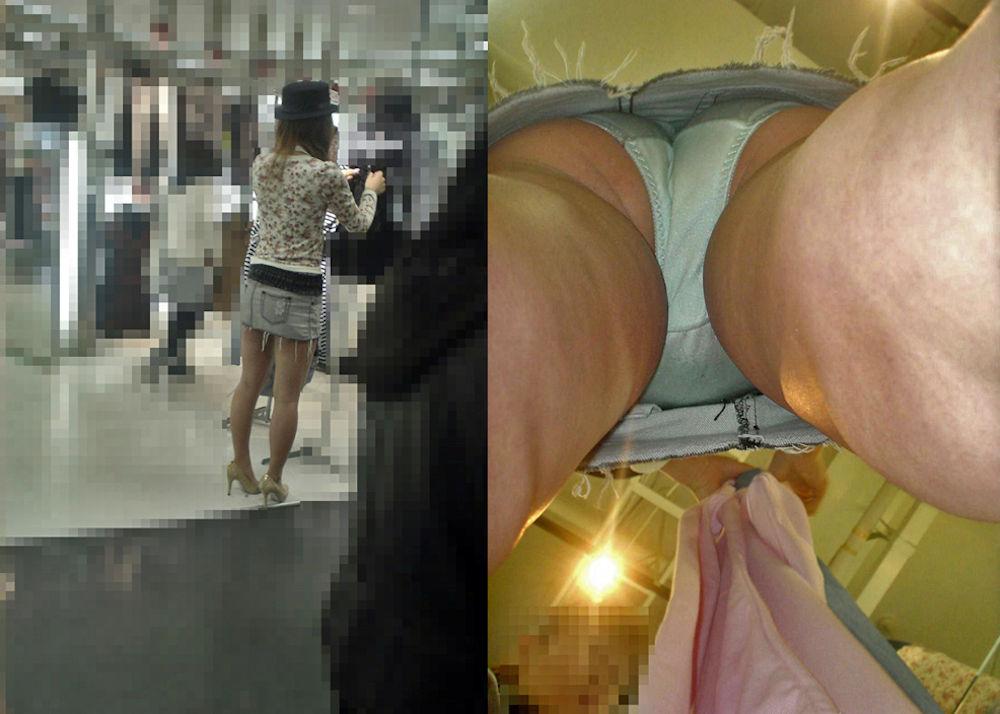 アパレル ショップ 店員 逆さ撮り パンチラ エロ画像【19】