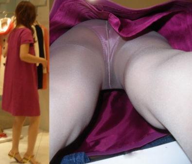 アパレル ショップ 店員 逆さ撮り パンチラ エロ画像【29】