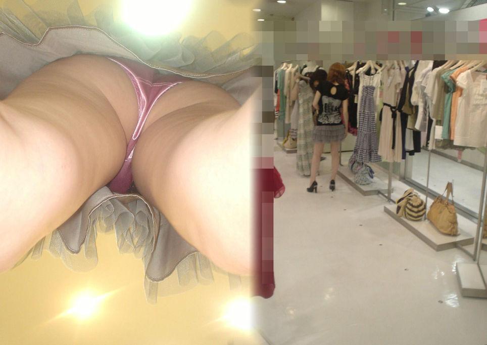 アパレル ショップ 店員 逆さ撮り パンチラ エロ画像【34】