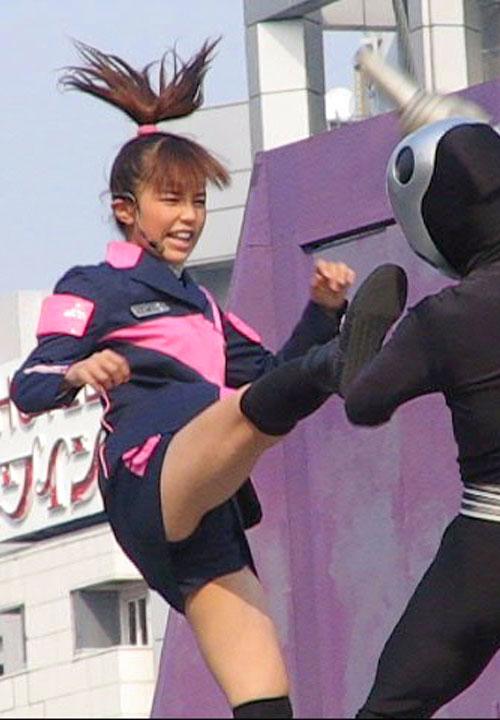 戦隊 特撮 ヒロイン アクション パンチラ エロ画像【24】