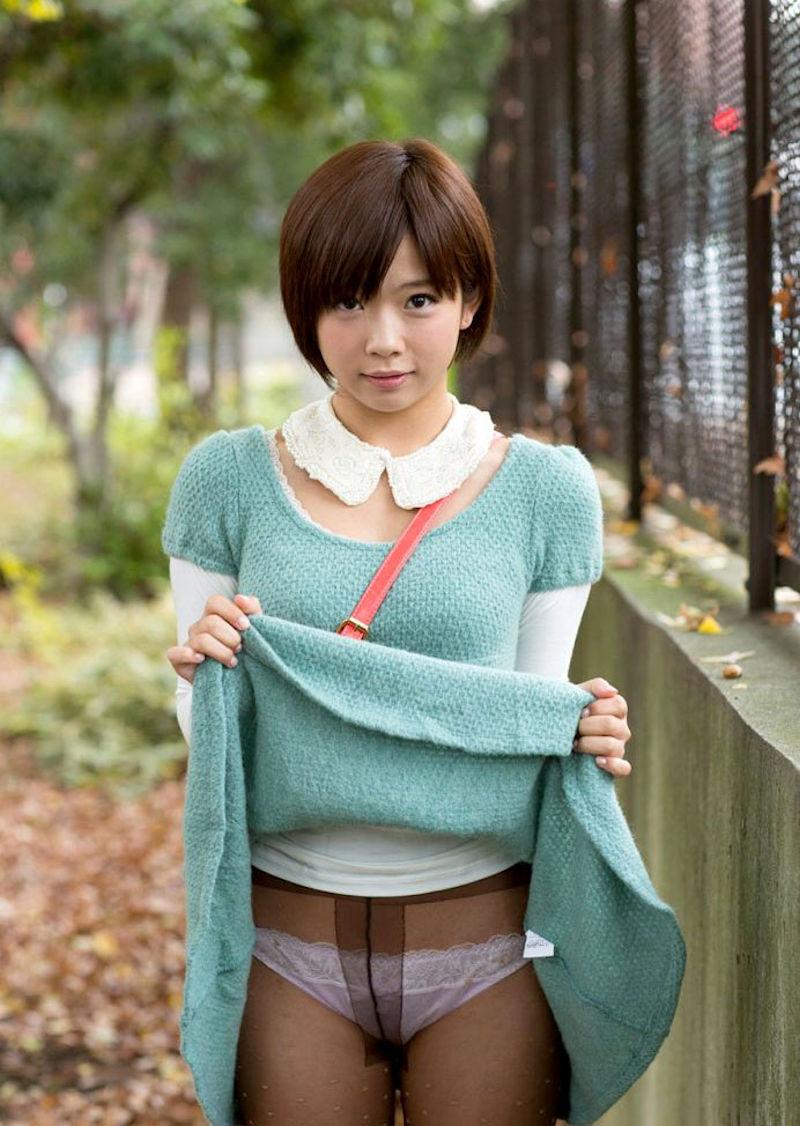 パンスト 穿く スカート たくし上げ エロ画像【43】