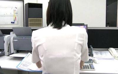 店員・ナース・OLの働く女性透けブラ画像集 ②