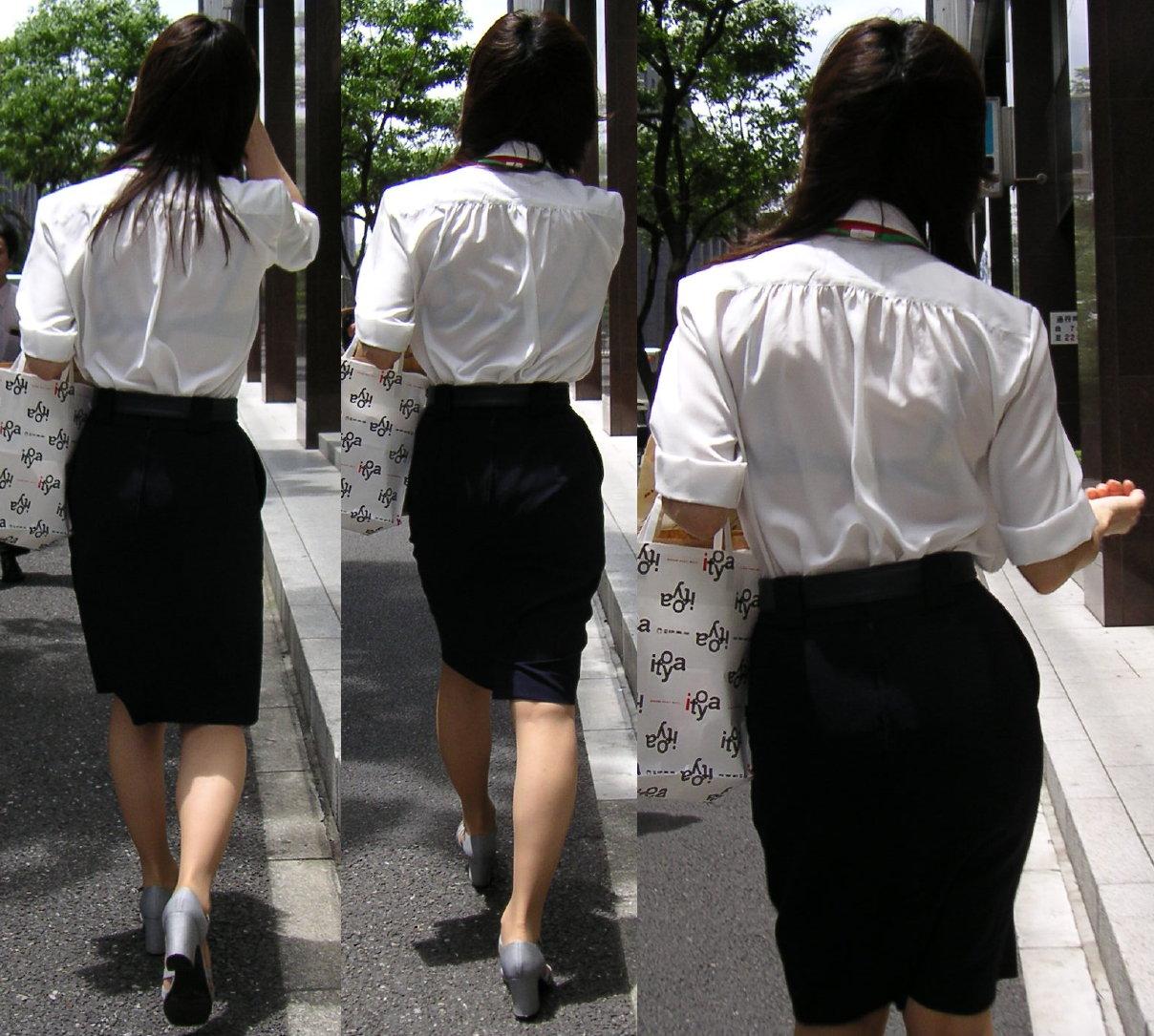 店員 ナース OL 働く女性 透けブラ エロ画像【10】