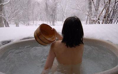 景色が最高な絶景露天風呂温泉のエロ画像 ①