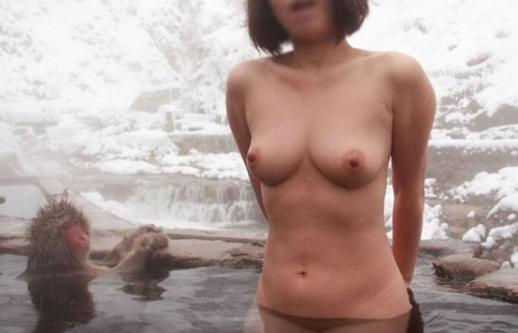 景色 最高 絶景 露天風呂 温泉 エロ画像【4】
