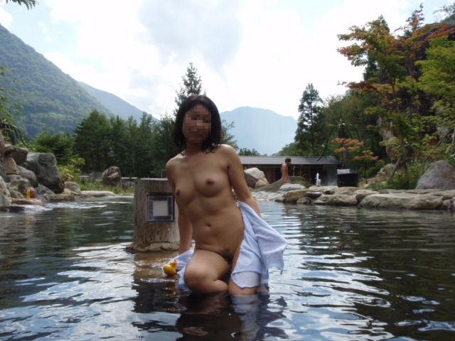 景色 最高 絶景 露天風呂 温泉 エロ画像【11】