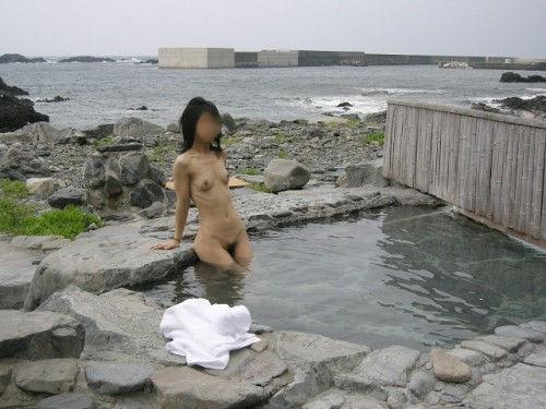 景色 最高 絶景 露天風呂 温泉 エロ画像【14】
