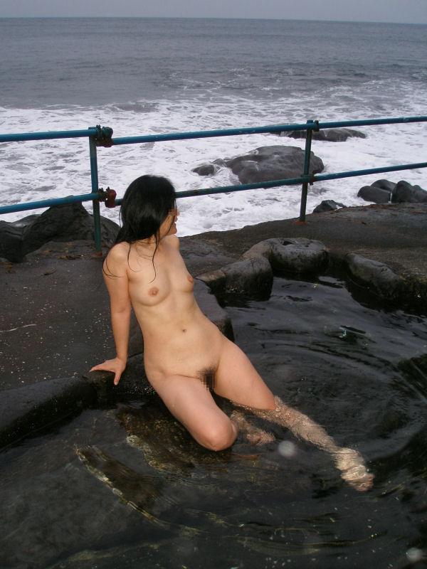 景色 最高 絶景 露天風呂 温泉 エロ画像【18】