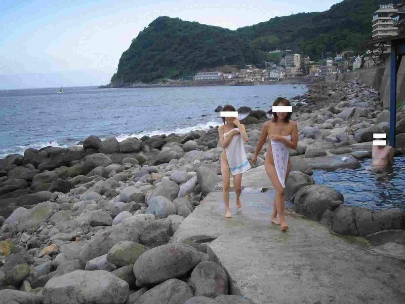 景色 最高 絶景 露天風呂 温泉 エロ画像【29】
