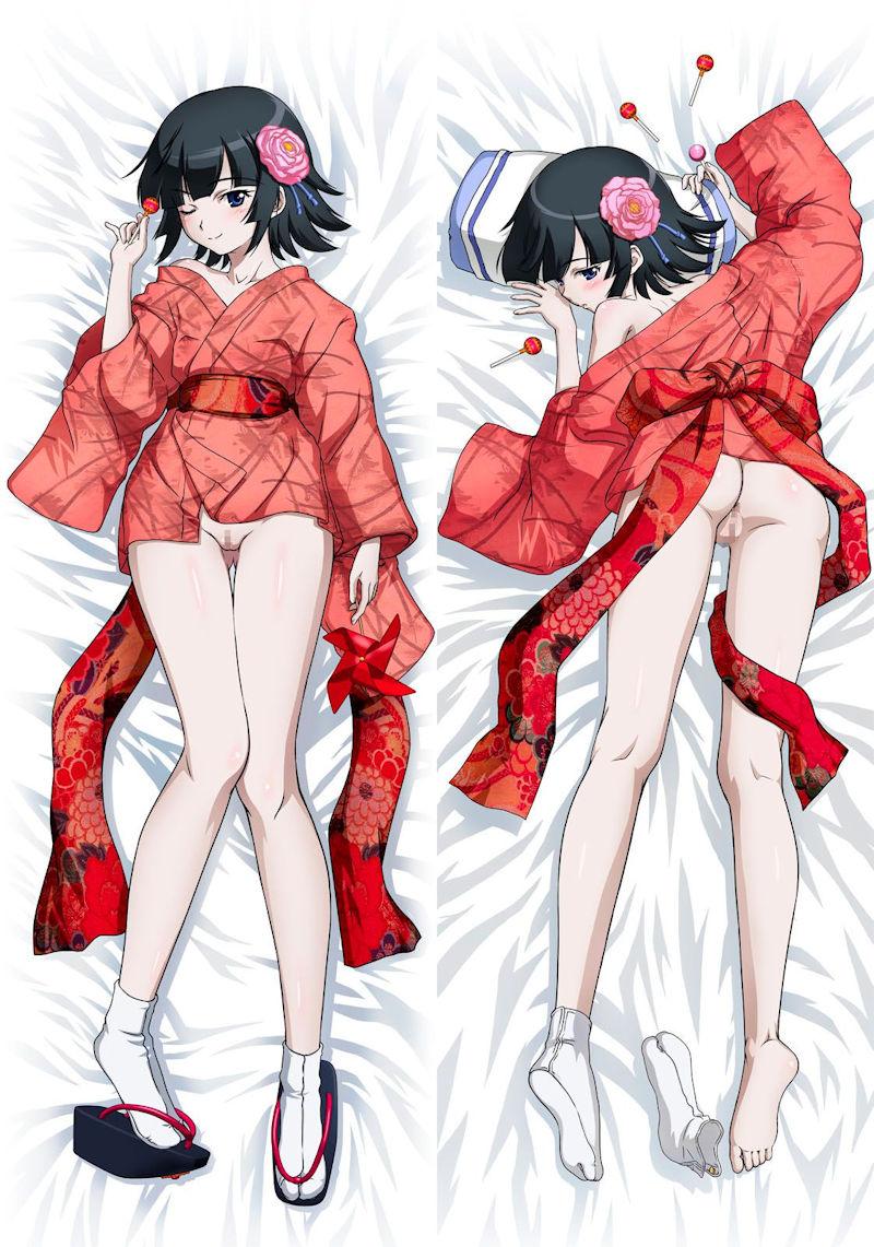 ミニスカ 着物 裾 短い 和服 二次元 エロ画像【23】
