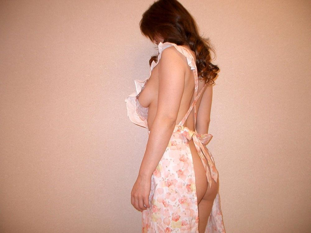 熟女 家庭的 裸 エプロン おばさん エロ画像【22】