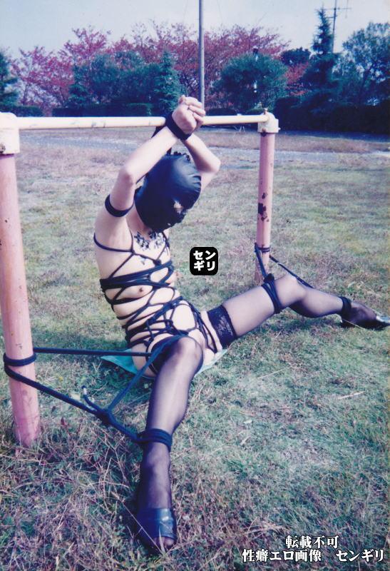 人妻 投稿 公園 全裸 緊縛 エロ画像【18】
