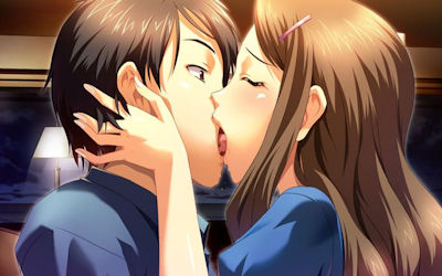 カップルが幸せなキスしてる二次元エロ画像 ①