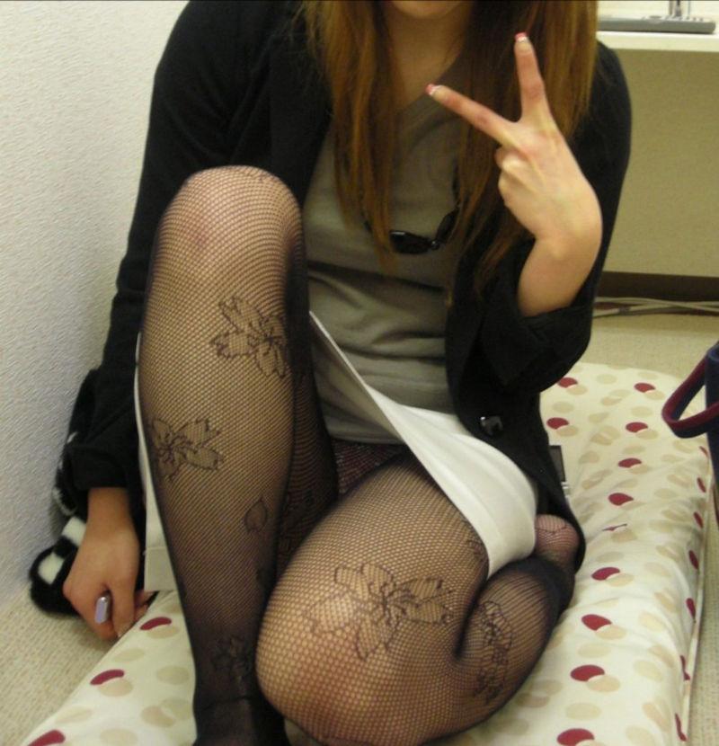 セクシー OL 網タイツ エロ画像【39】