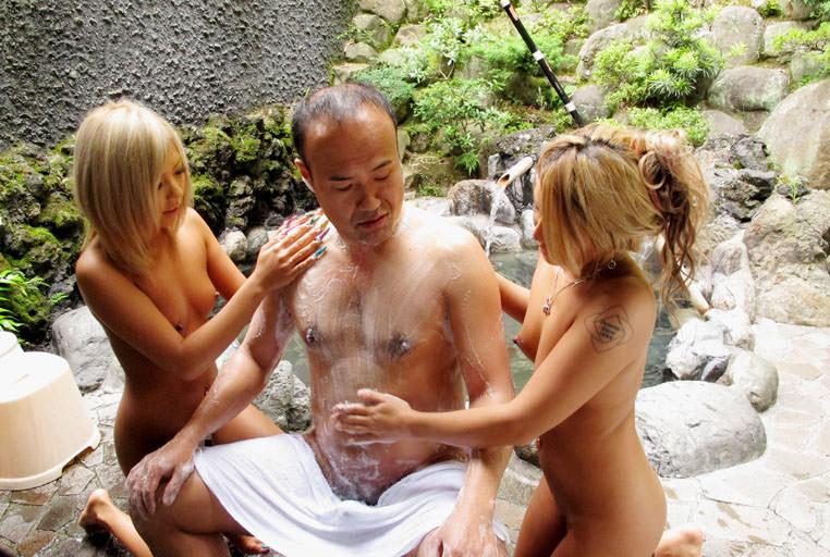 男女 体 洗いっこ 洗体 エロ画像【36】