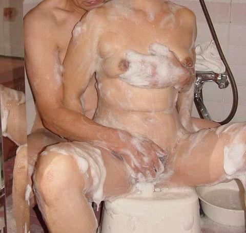 男女 体 洗いっこ 洗体 エロ画像【37】