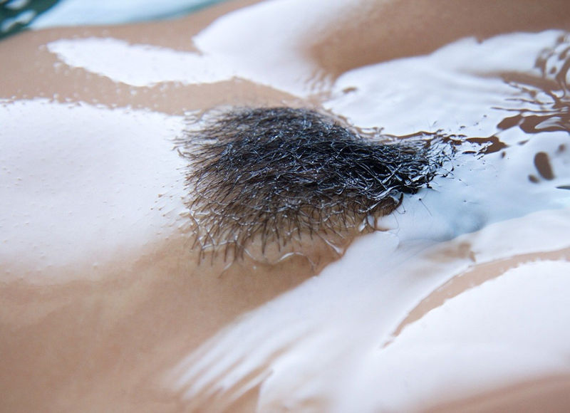 マン毛 びちょびちょ 濡れる お風呂 陰毛 エロ画像【13】