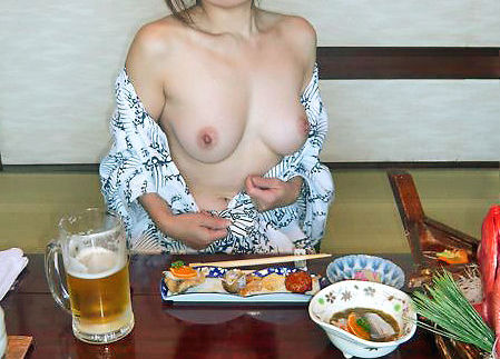 浴衣 着物 おっぱい ポロリ 和服 ズリ下げ エロ画像【42】