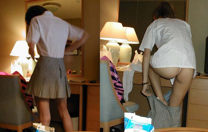 ホテル コスプレ 衣装 着替え 途中 エロ画像【29】