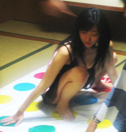 野球拳 ツイスターゲーム ピンクコンパニオン 遊び エロ画像【7】