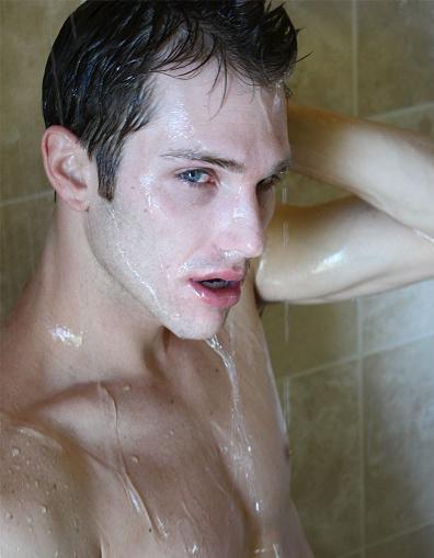 イケメン ヌード シャワー お風呂 濡れる エロ画像【4】
