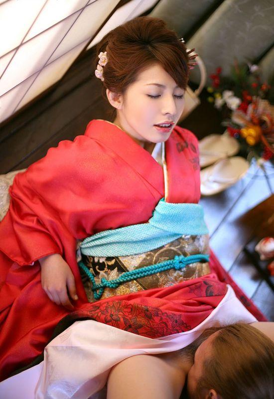 浴衣 着物 まんこ 舐める 和服 クンニ エロ画像【5】