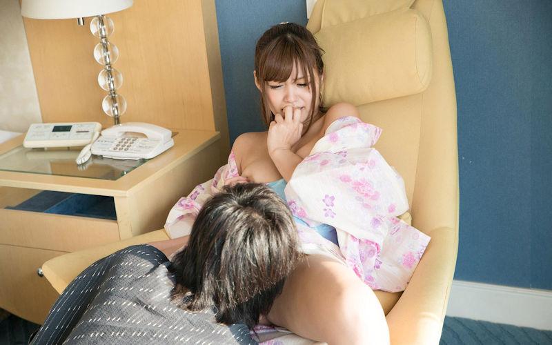 浴衣 着物 まんこ 舐める 和服 クンニ エロ画像【16】
