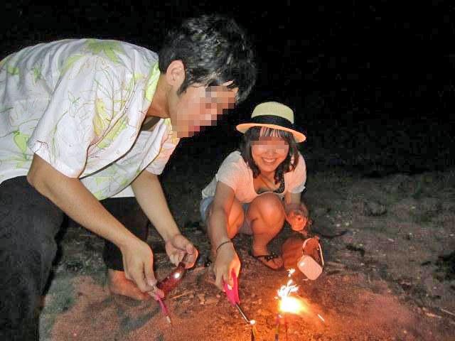 花火 胸チラ 日本の夏 エロ画像【7】
