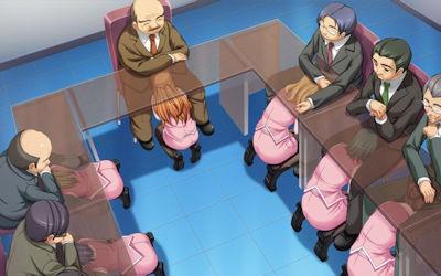 机の下でフェラしてくれるOLやJKの二次元エロ画像 ④