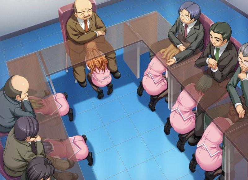 机の下 フェラ OL JK 二次元 エロ画像【31】
