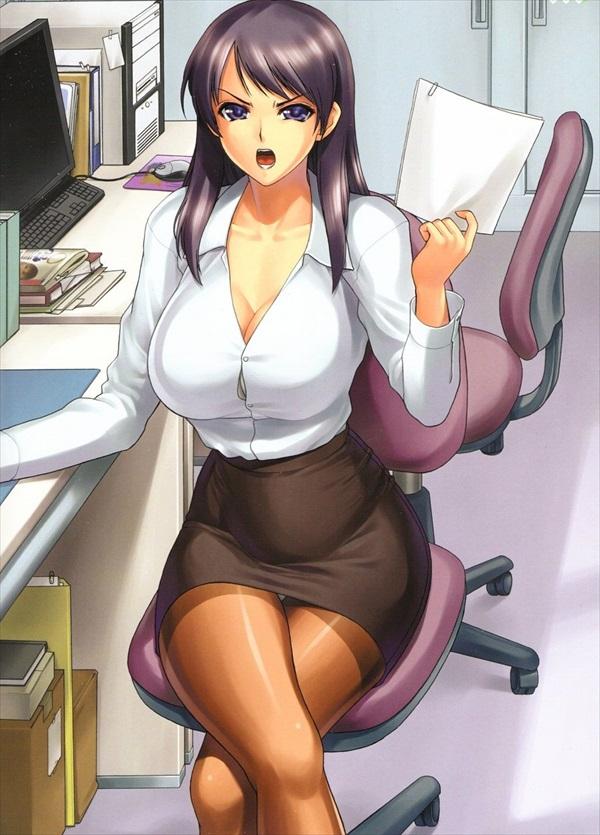 二次元 OL パンチラ 胸チラ エロ画像【15】
