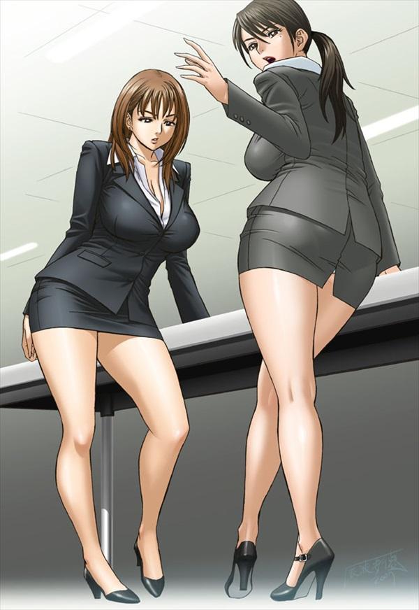 二次元 OL パンチラ 胸チラ エロ画像【22】