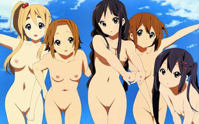 可愛い女の子が全て裸な二次元エロ画像 ④