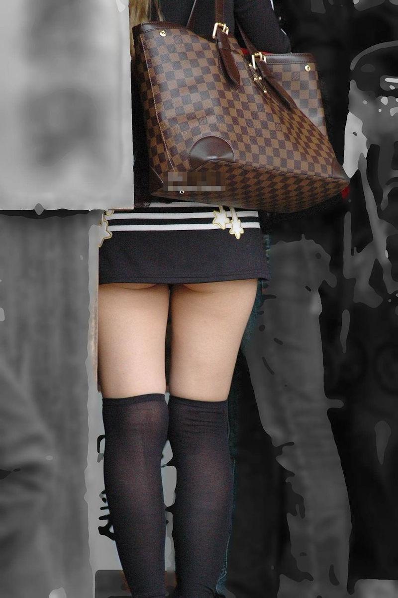 マイクロ ミニスカ お尻 はみ出す ハミケツ スカート エロ画像【34】