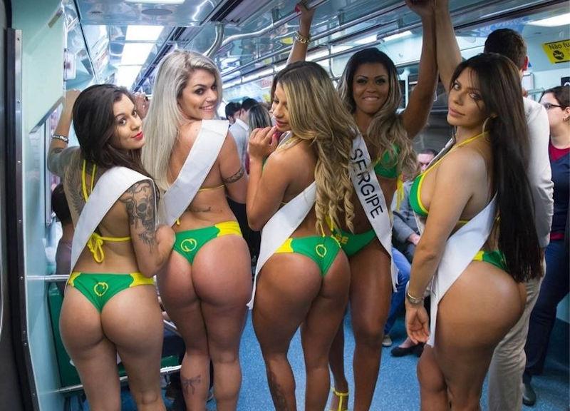 お尻自慢な外国人女性が集う美尻コンテスト画像集