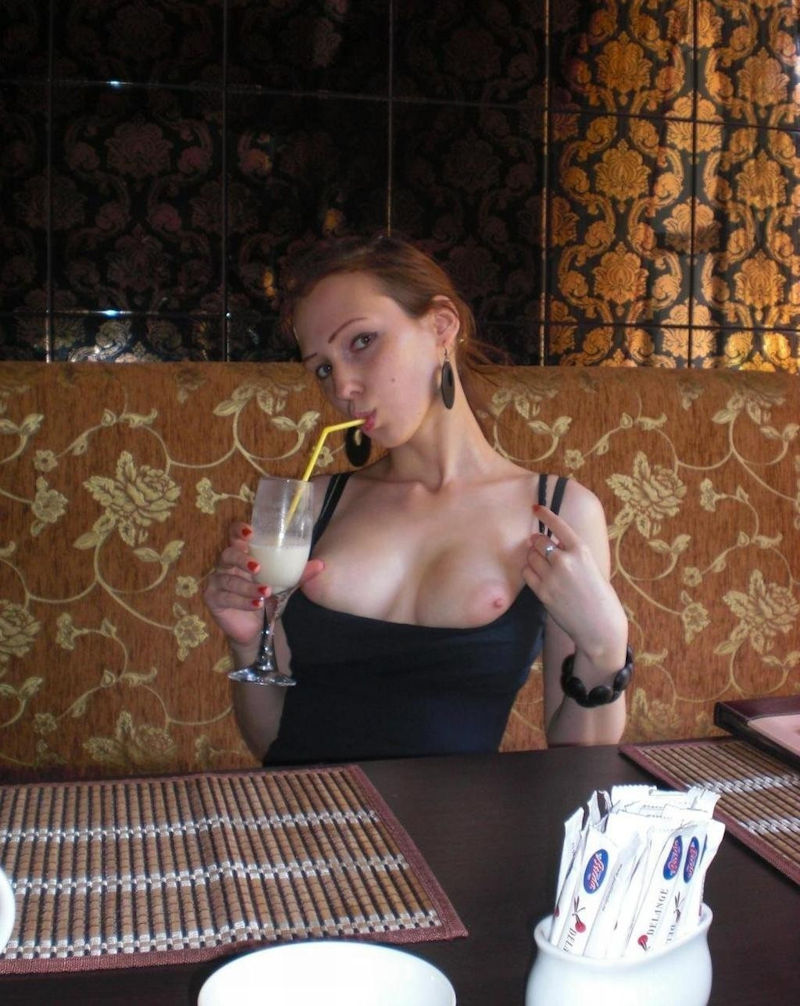 レストラン カフェ ランチ 露出 昼食 エロ画像【14】