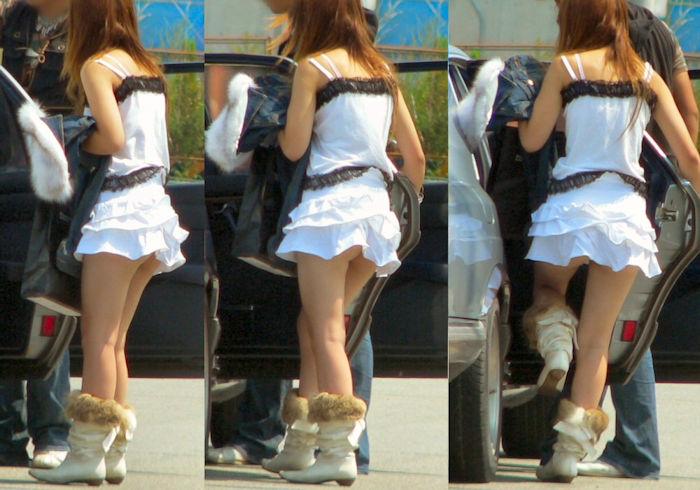 【パンチラ】無神経な女が車に乗り降りする時はパンツが見える法則wwwww