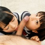 ダブルフェラ!女2人がチンコ舐めてるエロ画像