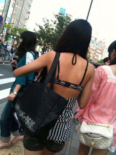 街中 ギャル ブラジャー 街撮り ブラ エロ画像【9】
