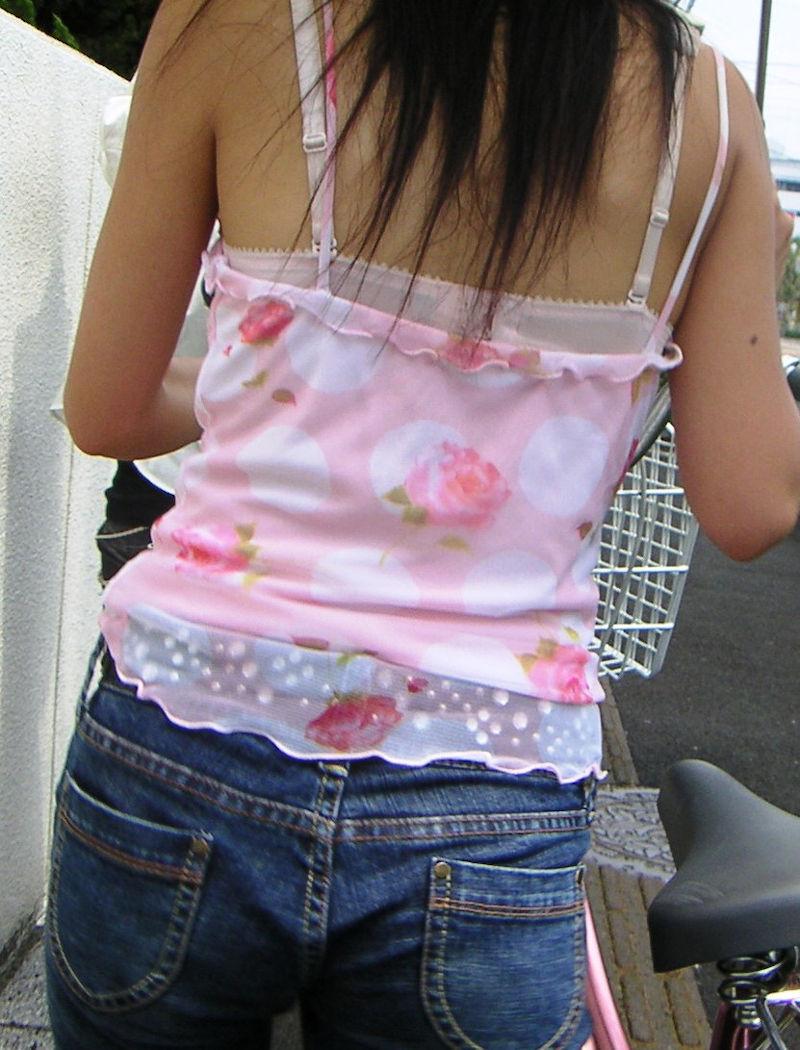 街中 ギャル ブラジャー 街撮り ブラ エロ画像【19】