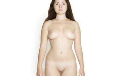 洋服→全裸!着衣・脱衣の直立ヌードGIF画像 ②