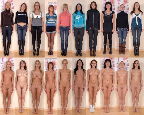 洋服→裸のギャップヌード!外国人のONとOFFのエロ画像