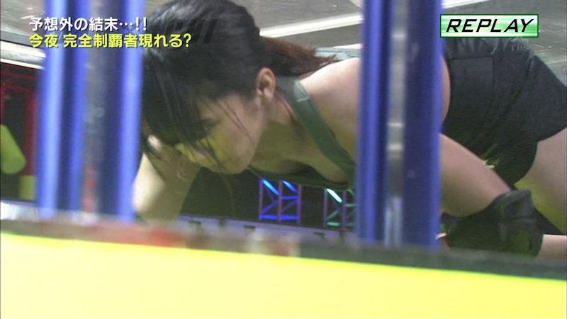 スポブラ 胸チラ 谷間 隙間 スポーツブラジャー エロ画像【39】