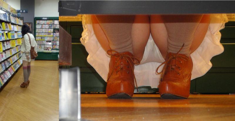 棚下 隙間 しゃがみパンチラ エロ画像【35】
