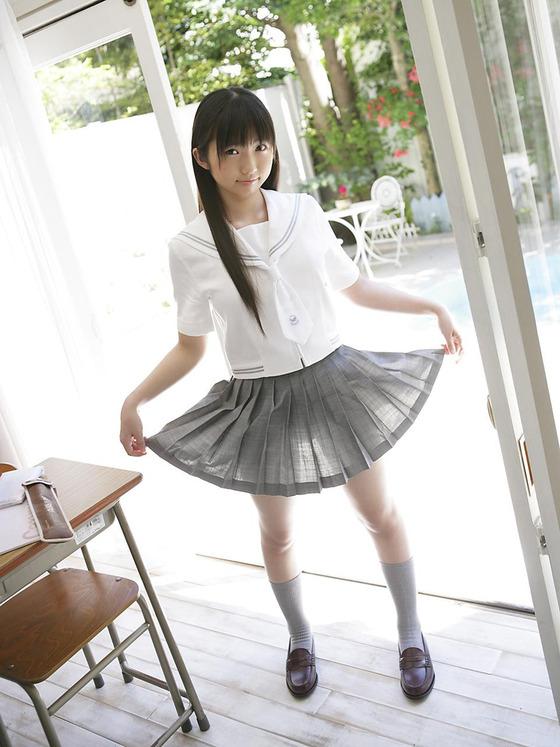 JK スカート パンツ 太もも 透け エロ画像【5】