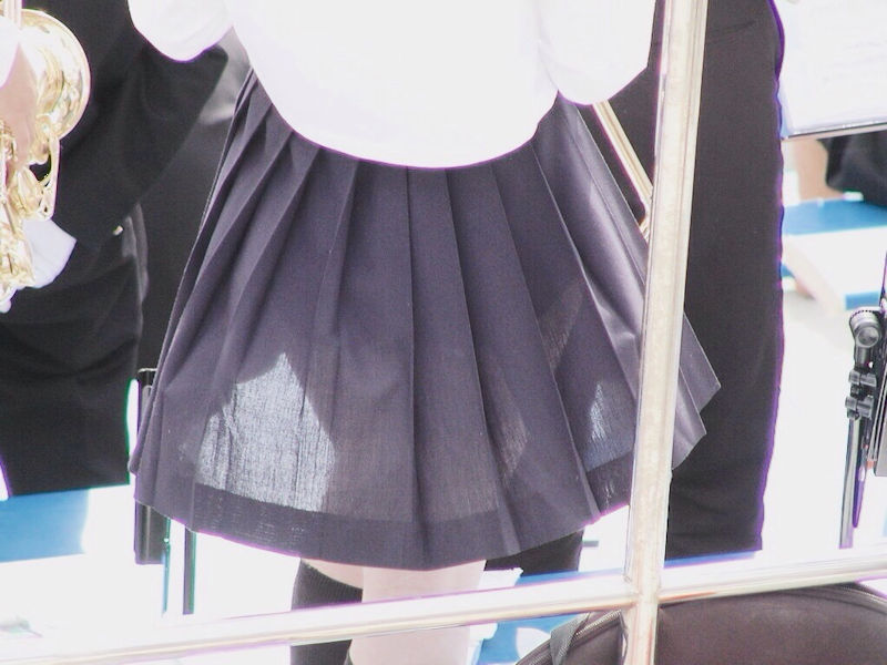 JK スカート パンツ 太もも 透け エロ画像【7】