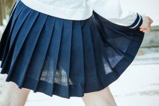 JK スカート パンツ 太もも 透け エロ画像【8】