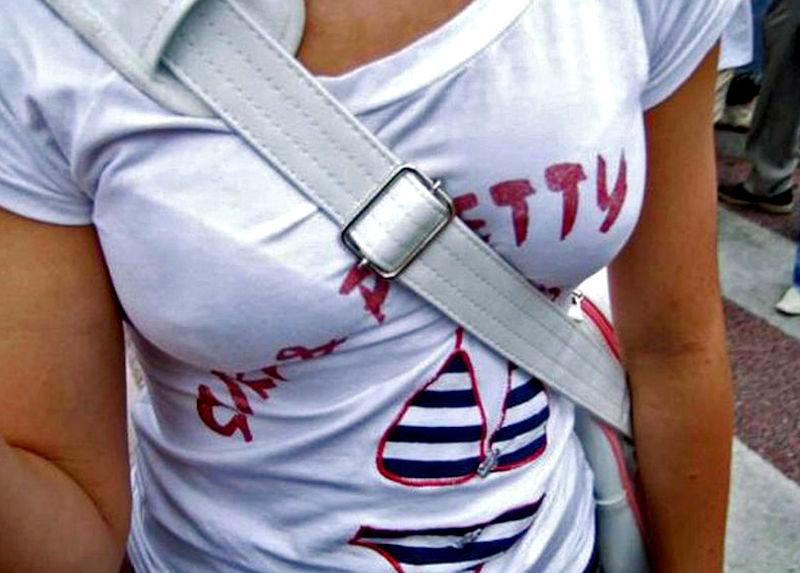 ブラジャー 透けブラ 白Tシャツ エロ画像