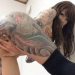 ギャルが体に思いを刻むタトゥーや刺青のエロ画像