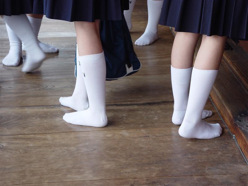 JK 靴下 白 スクールソックス エロ画像【20】